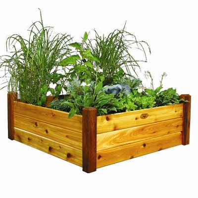 Rectangular Raised Garden Size: 19'' H x 48'' W x 48'' D by Gronomics