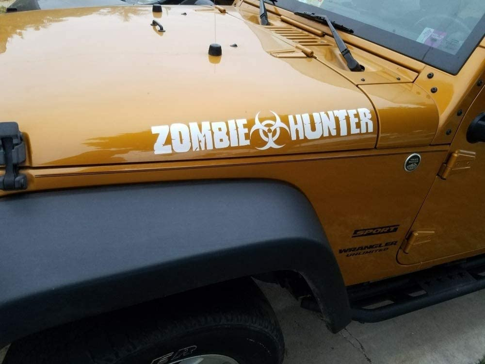 Bio hazard zombie response motorcycle go kart race car hood vinyl graphic decal