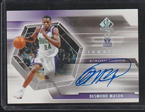2005 SP Desmond Mason Bucks Autographed Basketball Card (Mason Autographed Basketball)