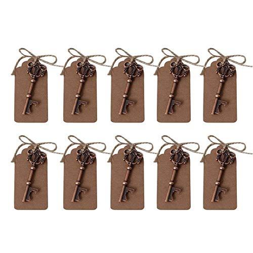 10 abrebotellas de estilo rústico de Awtlife, ideales para regalo de boda, souvenirs, decoración. Viene con cuerda de…