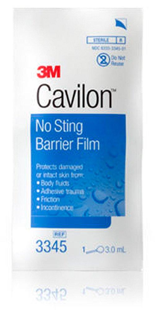 3M Cavilon No Sting Barrier Film 3345, 25 Applicators (Pack of 4)