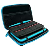 3 in 1 Case for New Nintendo 2DS XL,Carrying Case for Nintendo 2DS XL with Stylus,2 Screen Protector Film and 8 pcs Game Card Cases - Black