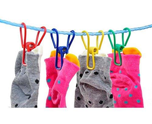 Pack de 30/colores multiusos tendedero utilidad Clips Alambre de acero Clips Clothespin cortavientos para launtry libro de playa y toalla