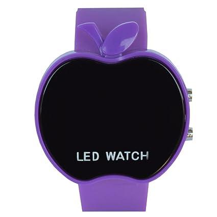 GIVME Apple Shape Digital Wrist Watch_Pruple Girl's Watches