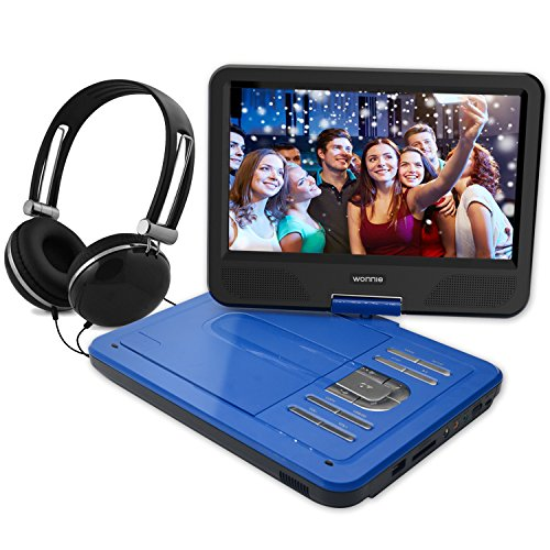 Portable DVD Player for Kids for Long Road Trips (10.1 inch Blue) (Mp3 Player For Kids Frozen)
