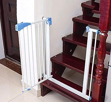 H.yina Puertas metálicas para Perros con Puerta peatonal, Protectores de Pared para Puertas de Seguridad para bebés para escaleras Interiores, Extra Ancho 72-231 cm, Blanco (tamaño: 223-231 cm): Amazon.es: Hogar