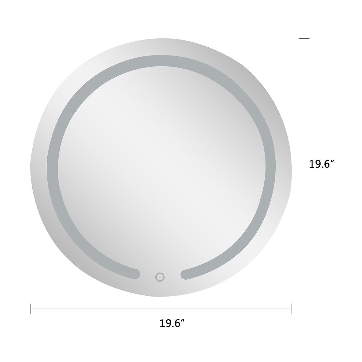"AODAILIHB LED Bathroom Mirrors Wall,19.7x19.7"" Round Waterproof LED Backlight Wall Makeup Mirror Bathroom Mirror Dressing Mirror"
