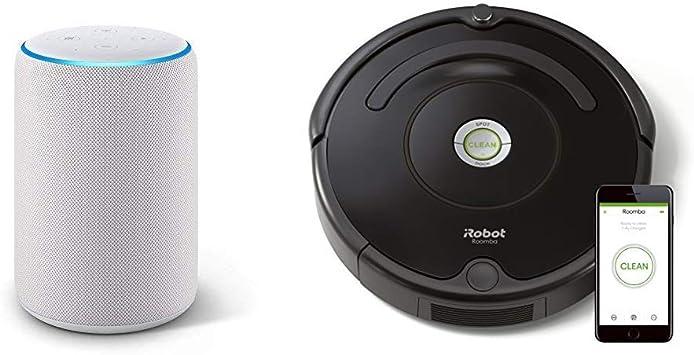 Echo Plus gris claro + iRobot Roomba 671 - Robot aspirador suelos ...