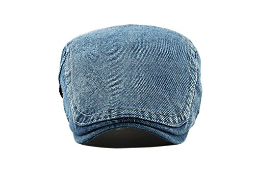 Jean plana Adulto Sombrero Azul Unisex Acvip Ajustable Beret Visera Gorra Denim qYIxfxpd4n