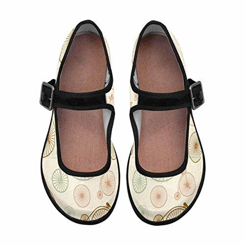 Walking Casual Shoes Comfort Jane Womens InterestPrint Multi Flats Mary 15 AHq1xgO