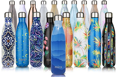 MIRA Vacuum Insulated Travel Water Bottle | Leak-proof Double Walled Stainless Steel Cola Shape Sports Water Bottle |