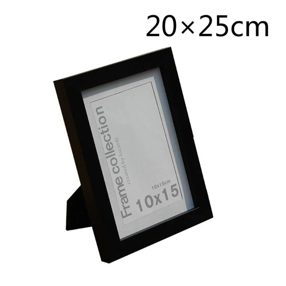 Utile et amusant Environ 20 × 25 cm cadre en plastique cadre suspendu pour la décoration de la maison (noir) ShireyStore