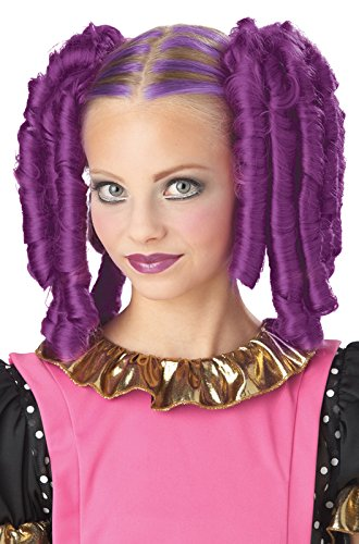 [California Costumes Anime Curls with Hairscara, ACC, Magenta] (Goth Costumes For Tweens)