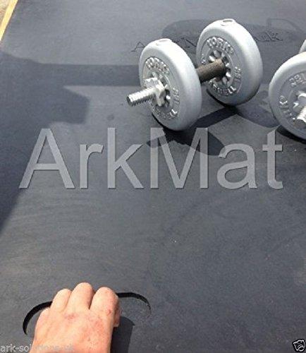 2 x Gym/Dumbbell estera with handles Tarea Pesada Caucho Tapete de gimnasio: Amazon.es: Deportes y aire libre