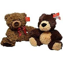 Aurora Bear Lovers Set of 2 Stuffed Bear Set of 10 inch and 8 inch Plush