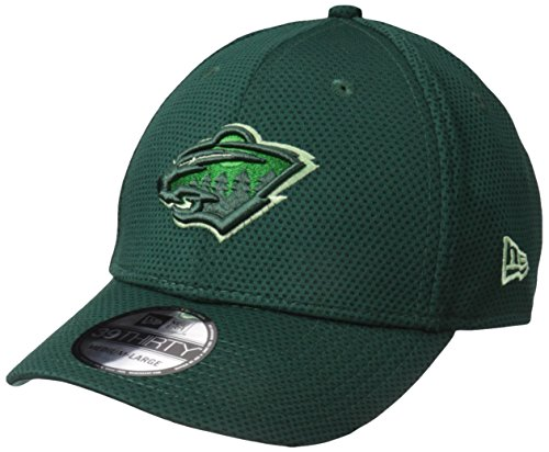 (New Era NHL Minnesota Wild Adult Tone Tech Redux OTC 39THIRTY Stretch Fit Cap, Medium/Large,)