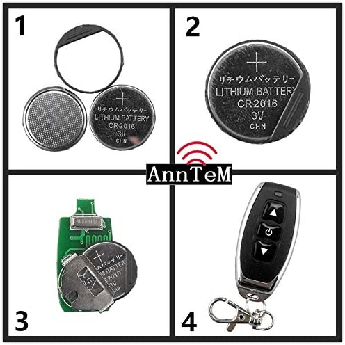 Anntem Wireless Remote Control Switch 433mhz rf Transmitter and Receiver kit dc12v Motor Transfer Starter Battery Power Small Motor Forward+Reverse+Stop Steering Remote Control Controller