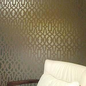 Enrejado allover plantilla reutilizable plantilla para for Amazon decoracion pared