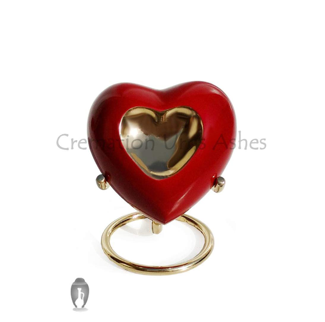 Inner Heart Keepsake Urn in Pewter Enamelled for Cremation Ashes Global Online Services