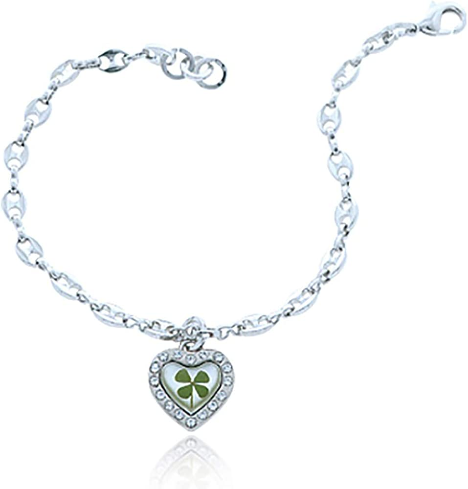 yati/_gj 1 Pcs Steel Septum Clicker with Heart Charm Stainless Steel 16g