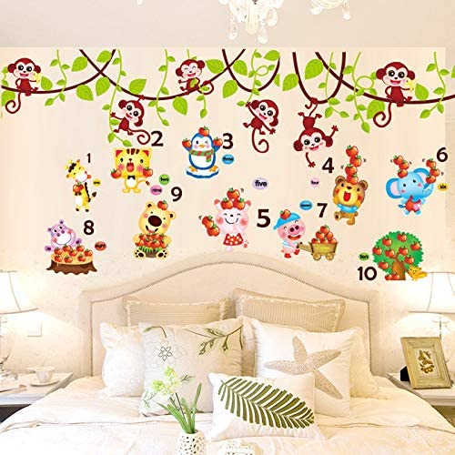 Soungnerly Bedroom Simple Wall Decoration Fashion Wall Stickers 3d Three Dimensional Painting Cartoon Stickers Baby Children Room Wall Wall Painting Wallpaper Self Adhesive Amazon Ca Home Kitchen