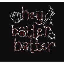 Hey Batter Batter Baseball Rhinestone Transfer