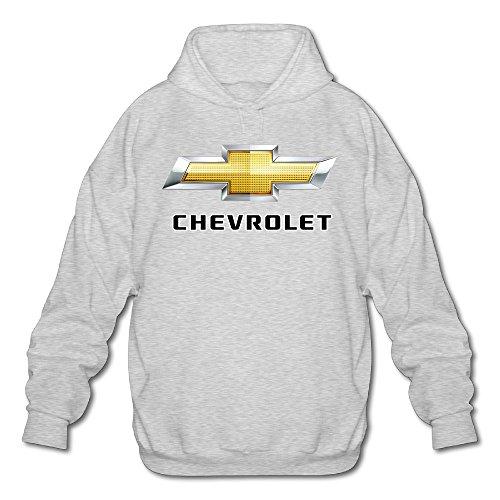 Men's Chevrolet Chevy Logo Hooded Sweatshirt Ash XXL