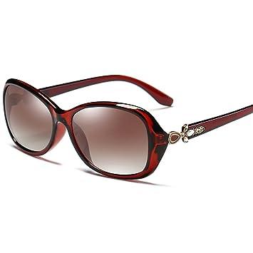 Sonnenbrillen Sonnenbrille weibliche polarisierte Mode elegante Anti-UV-Laufwerk Gläser (Farbe : Lila) PC0z9