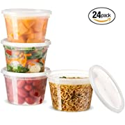 Amazon Lightning Deal 74% claimed: Basix Deli Food Storage Container With Lids 16 Ounce