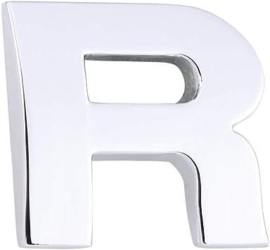 - A 1pc 3D Fai da Te Metallico Lettera Adesivo Auto Emblema Distintivo Decalcomania Argento one size G