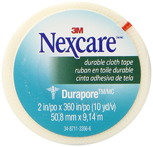 Nexcare Durable Cloth First Aid Tape, 2 Inch x 10 Yard Roll, (First Aid Tape Gauze & Pads)