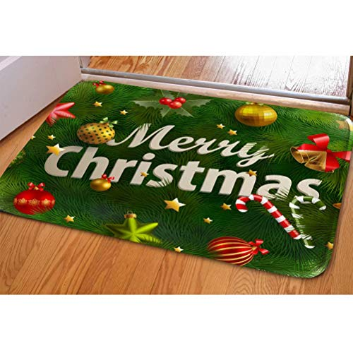 SANNOVO Home Floor Mat Water Absorbent Merry Christmas Printed Soft Carpet Stair Protector Entrance Rug Non Sliping Back from SANNOVO