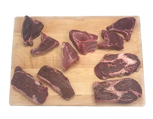 Meat Bison (Wild Game Variety Steak (Bison, Elk, Venison and Wild Boar) 10 Count)