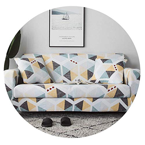 Dream-catching Popular Printing Color Sofa Cover Flexible Elastic Tight Wrap Protector Slipcover All-Inclusive Comfortable Modern Sofa Towel,Color 7,2seater 145-185cm (Beyond Bath Kelowna Bed And)
