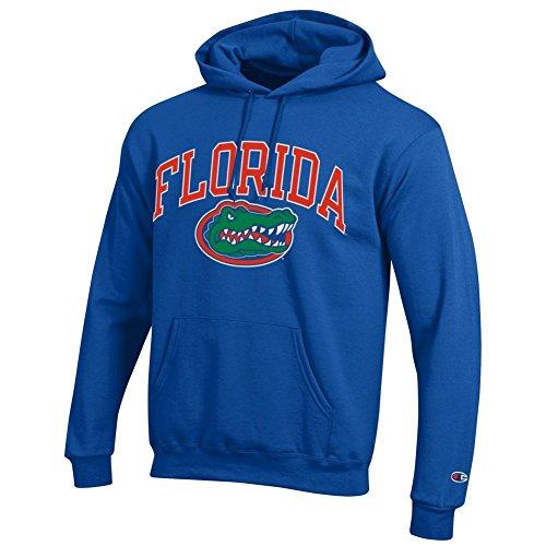 (Elite Fan Shop Florida Gators Hooded Sweatshirt Arch Royal - L)