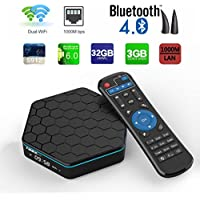 Aoxun TV Box Android 6.0 Intelligent set-top box T95Z Plus CPU Amlogic S912 Octa-core 64 Bits 3GB RAM 32GB ROM with Dual wifi smart set-top boxes Bluetooth 4.1 and True 4K Playing
