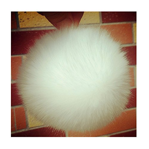 9 Pom Pom Balls, Faux Fur Balls, Furry Balls for Handbag Charming, Keychain, Christmas Tree Decoration, Knitting Hats, Diameter: - Chain And Hat Ball