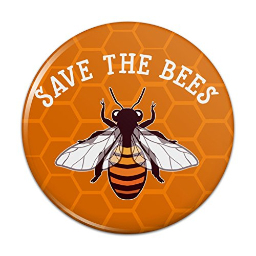 Save The Bees Honey Pinback Button Pin Badge - 1