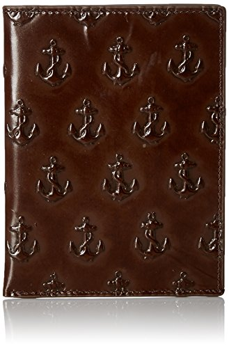 Jack Spade Men's Embossed Anchor Passport Sleeve, Chocolate,, used for sale  Delivered anywhere in USA