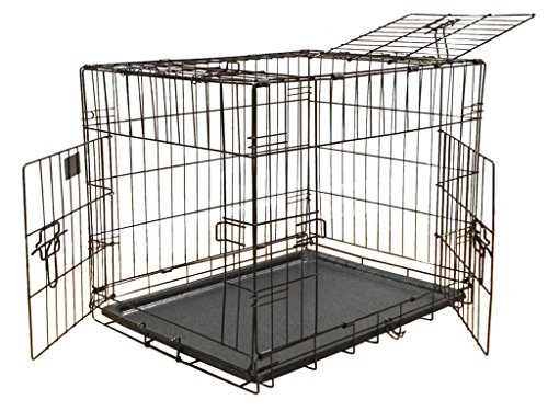 Go Pet Club 3-Door Metal Pet Crate, 24-Inch
