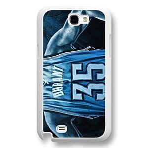 Onelee(TM) - Customized White Hard Plastic Samsung Galaxy Note 2 Case, NBA Superstar Oklahoma City Thunder Kevin Durant Samsung Galaxy Note 2 Case