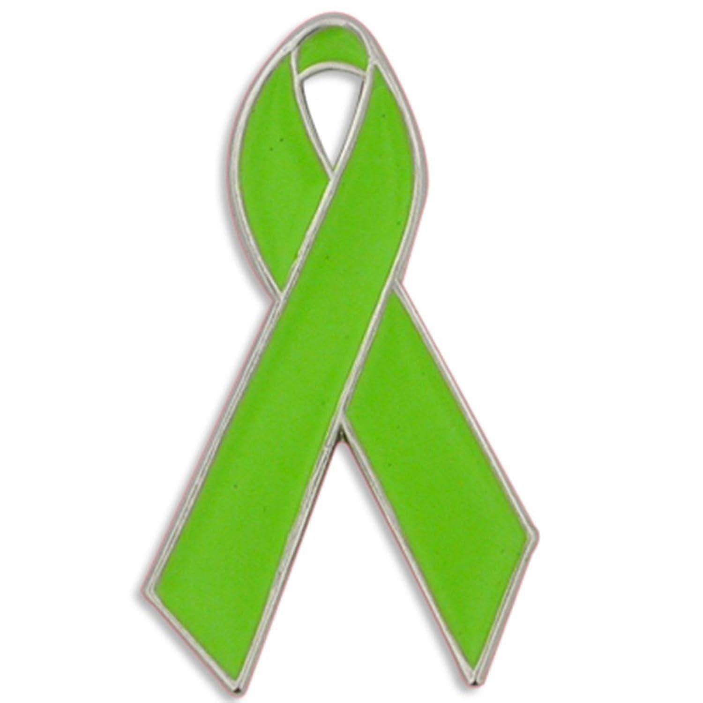 Amazon Pinmarts Lime Green Awareness Ribbon Enamel Lapel Pin