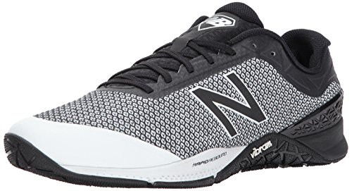 New Balance Men's 40V1 Cross Trainer, Black/White, 12 D US