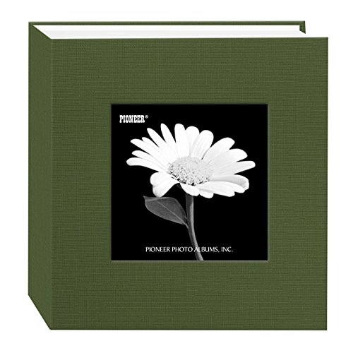 Pioneer 100 Pocket Fabric Frame Cover Photo Album, Herbal Green ()