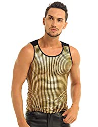 Men's Shiny Sequins Tank Top Vest