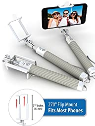 Premium 5-in-1 Bluetooth Selfie Stick (Powered by USA Technology) For iPhone 7, 6 & 5, Samsung Galaxy S8, S7, S6, S5 - Takes Perfect Selfies, HD Photos & Videos