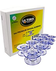 Ultima Premium Sewing Machine Bobbins - Style SA-156 Bobbins for Brother, Singer, Babylock, Janome, Kenmore & Other Sewing Machines (100 Bobbins)