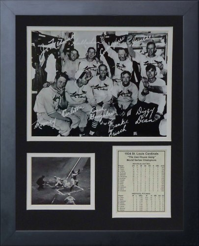 Legenden Sterben Nie 1934 St. Louis Cardinals Gas House Gang gerahmtes Foto Collage, 11 x 35,6 cm von Legends Never Die