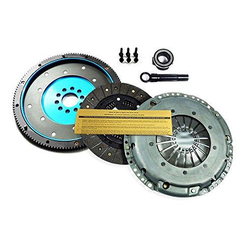 (EFT HD CLUTCH KIT+ALUMINUM FLYWHEEL VW GOLF GTI JETTA CORRADO PASSAT 2.8L VR6 12V)
