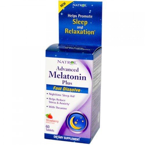 Avancée sommeil mélatonine Plus Natrol 60 Tabs